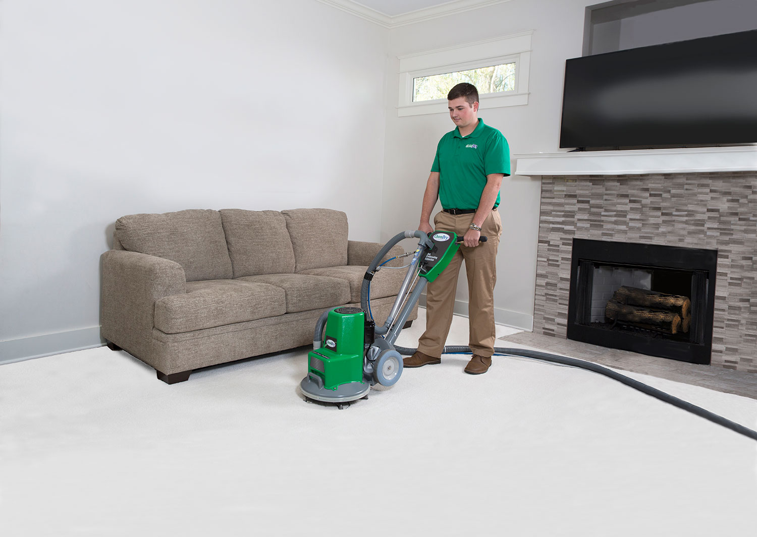 carpet cleaner at work